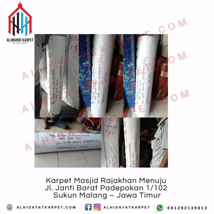 Pengiriman Karpet Masjid Rajakhan Menuju Jl. Janti Barat Padepokan 1102 Sukun Malang – Jawa Timur