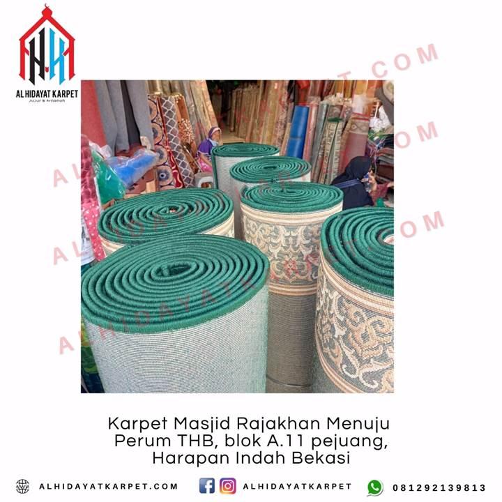 Pengiriman Karpet Masjid Rajakhan menuju Perum THB, blok A.11 pejuang, Harapan Indah Bekasi