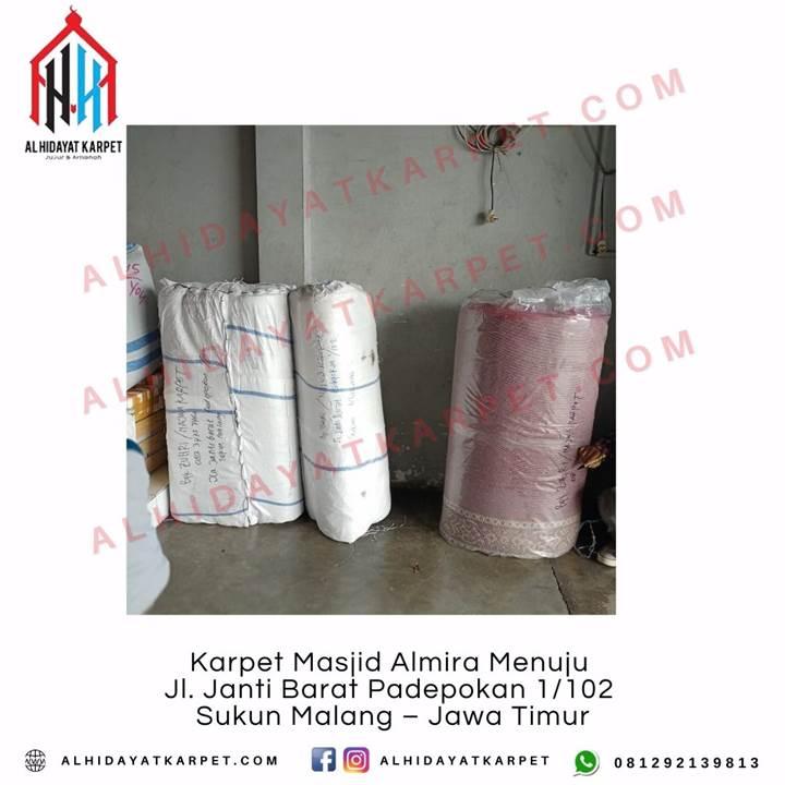 Pengiriman Karpet Masjid Almira Menuju Jl. Janti Barat Padepokan 1102 Sukun Malang – Jawa Timur