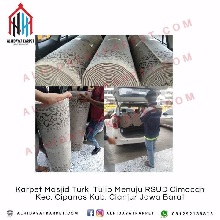 Pengiriman Karpet Masjid Turki Tulip Menuju RSUD Cimacan
